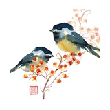 Two Birds on a Branch Prints