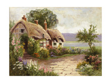 Cottage and Flower Garden Premium Giclee Print