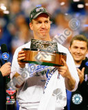 Peyton Manning with the 2009 AFC Championship Trophy Photo