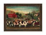 Nostalgic Farm Landscape Print