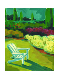 Adirondack Chair in Garden Posters