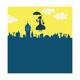 Mary Poppins in Sky Affiches