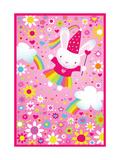 Soaring Princess Bunny Posters