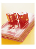 Red Dice and Cards Posters