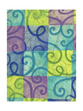Swirls on Colored Squares Art
