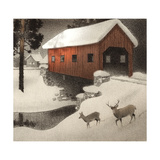 Snow Covered Bridge Prints