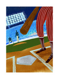 Batter up Baseball Premium Giclee Print