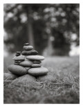 Stacked Smooth Stones Photographie