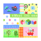 Baby Items Collage Premium Giclee Print