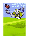 Diving to Catch Football Posters