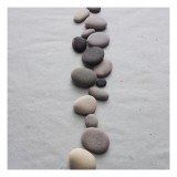 River Stones on Sand Prints