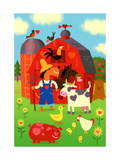 Happy Barnyard Animals Prints