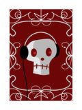 Skull with Headphones Posters