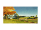 Country House with Field Prints