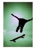 Skateboarder Soaring Photo