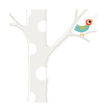 Songbird in Tree Print