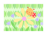 Cute Ladybug on Flower Posters