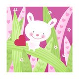 Mouse Critter with Leaves and Heart Posters