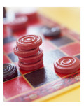 Checkers and Board Photo