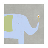 Elephant with Flower Prints