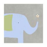 Elephant with Flower Prints