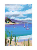 Coastal Scene with Boats Prints