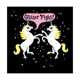 Unicorn Glitter Fight Posters