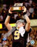 Drew Brees 2009 With NFC Championship Trophy Photo
