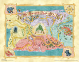 The Wizard of Oz: Glitter Map Poster