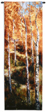 Autumn Birch Path Wall Tapestry by Art Fronckowiak