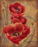 Poppy Passion I Posters by Elaine Vollherbst-Lane