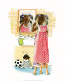 Sunshine Smiles (Girl) Print by Sylvia Walker