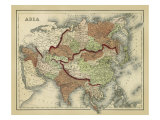 Antique Map of Asia Giclee Print by Alvin Johnson
