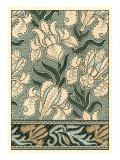 Garden Tapestry II Print by Eugene Grasset