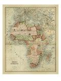 Antike Karte von Afrika Kunstdruck