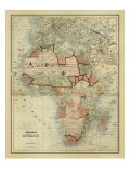 Antique Map of Africa Giclee Print by Alvin Johnson
