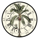 Antique Palm Clock Posters