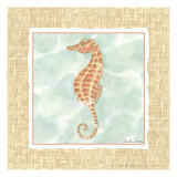 Ocean Seahorse Poster by Chariklia Zarris