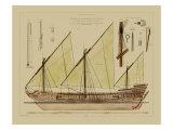 Vision Studio - Antique Ship Plan VI - Art Print