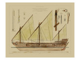 Antique Ship Plan VI Arte