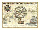 Nautical Map I Plakaty autor Vision Studio