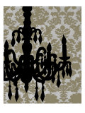 Chandelier Silhouette II Giclee Print by Ethan Harper