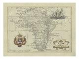 Antike Karte von Afrika Kunst