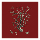 Red and Tan Coral I Giclee Print by Vision Studio 