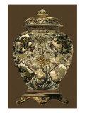 Jarre en porcelaine aux tons ambrés I Art