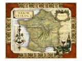 Wine Map of France - Reprodüksiyon