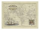 Antique Map of the World Plakaty autor Vision Studio