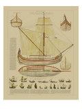 Vision Studio - Antique Ship Plan I - Tablo