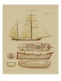 Vision Studio - Antique Ship Plan IV - Reprodüksiyon