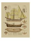 Antique Ship Plan II Láminas